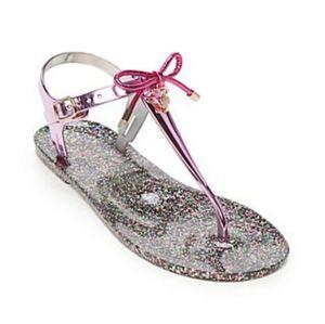 🆕️ Kate Spade Fanley Metallic Jelly Sandals